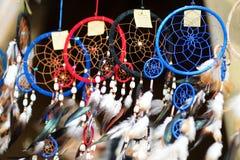 Dream catchers sold on spring market in Vilnius Stock Photo