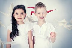 Dream children Stock Images