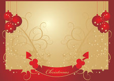 Dream christmas postcard Royalty Free Stock Image
