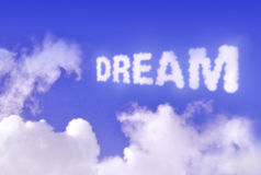 Dream. Cloud in the sky stock photos