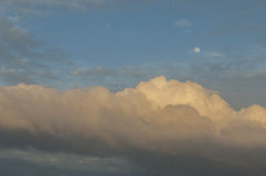 Dream clouds and moon Royalty Free Stock Photography