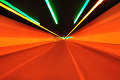 Dream Color of tunnel Stock Images