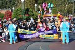 A Dream Come True Celebrate Parade in Disney World Stock Image