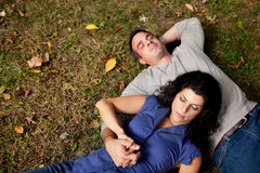 Dream Couple Grass Stock Photo