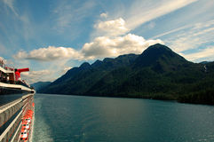Dream Cruise. Cruise ship in the Inside Passage to Alaska Stock Images