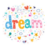 Dream. Decorative type lettering design Stock Image
