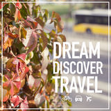 Dream Discover Travel Royalty Free Stock Photography