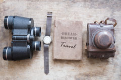 Dream Discover Travel text, journey or trip idea Royalty Free Stock Image