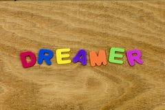 Dream dreamer explore sleep dreaming live foam toy. Education preschool spelling adventure wander believe positive attitude move forward thinking learning child royalty free stock image