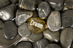 Dream Encouragement Stone Royalty Free Stock Photography