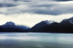 Dream Enhanced Kachemak Bay and Kenai Mountain Range Stock Images