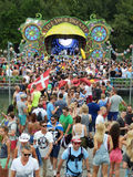 Dream festival. Live your dream side stage of the Tomorrowland festival in the town of Boom, Belgium (Friday, 25th of July 2014 Royalty Free Stock Photography