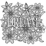Dream. Floral illustration Royalty Free Stock Images