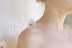 Dream-girl with flowers Stock Photo
