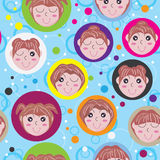 Dream Girl Seamless Pattern_eps Royalty Free Stock Photos