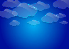 Dream glass clouds background Royalty Free Stock Photography