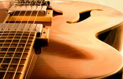 Dream Guitar. Hollow Body Electric Acoustic Guitar Royalty Free Stock Image