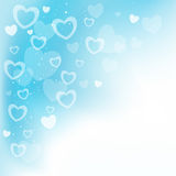 Dream hearts blue background Stock Photography
