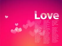 Dream with hearts on pink gradient background. Royalty Free Stock Photography