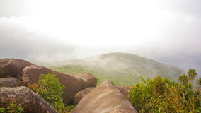 Dream hill. Wonderful views on a hilltop covered with clouds. This is rain forest in south east asia stock photos