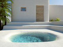 Dream holiday. Relaxing vacation in dream house Royalty Free Stock Photos