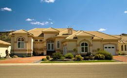 Dream home 2. Upper class luxury home with double garage Royalty Free Stock Photos