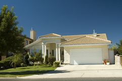Dream home 4. Upper class luxury home with garage Royalty Free Stock Images