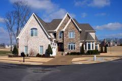 Dream home. A modern American dream home against bright blue sky Stock Photos