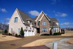 Dream home fisheye. A modern American dream home shot in fisheye mode Stock Images