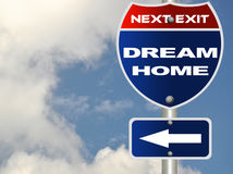 Dream home road sign Royalty Free Stock Photos