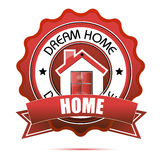 Dream home tag Royalty Free Stock Image