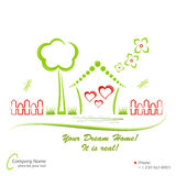 Dream home, vector illustration Royalty Free Stock Photography