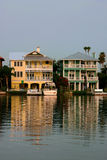 Dream Homes. On Flordia's Gulf Coast Intercoastal waterway stock image