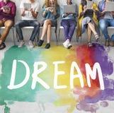 Dream Hopeful Inspiration Imagination Goal Vision Concept. Dream Inspiration Color Imagination Concept Royalty Free Stock Photos