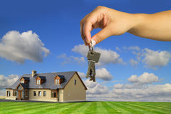 Dream house. Keys to new dream house Stock Image