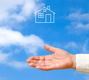 Dream house as a gift Stock Image