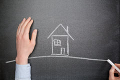 Dream House Concept Stock Image