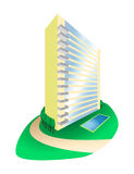 Dream House Condominium on Hill Illustration Stock Photography