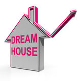 Dream House Home Means Finding Or Building Ideal. Dream House Home Meaning Finding Or Building Ideal Property Stock Image