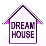 Dream House Home Means Perfect For Family. Dream House Home Meaning Perfect For Family Royalty Free Stock Photography