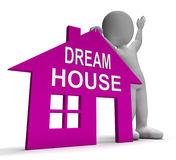 Dream House Home Shows Finding Or Designing Perfect Property. Dream House Home Showing Finding Or Designing Perfect Property Royalty Free Stock Images