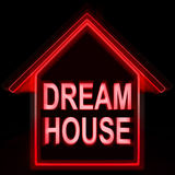Dream House Homes Means Perfect For Family. Dream House Homes Meaning Perfect For Family Royalty Free Stock Photography