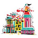 Dream house illustration Stock Image
