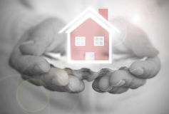Dream house over an oyster shell Royalty Free Stock Image