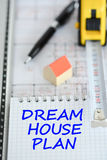 Dream house planning with architecture plan Royalty Free Stock Image