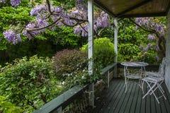 Dream house porch and garden Stock Photos