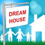 Dream House Represents Property Message And Wish Royalty Free Stock Images