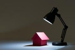 Dream house in spotlight Stock Photos