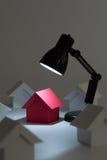 Dream house in spotlight Royalty Free Stock Image