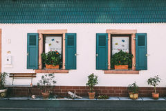 Dream House. Window from Hirschhorn, in Germany Royalty Free Stock Photo